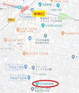 代沢地区会館-地図